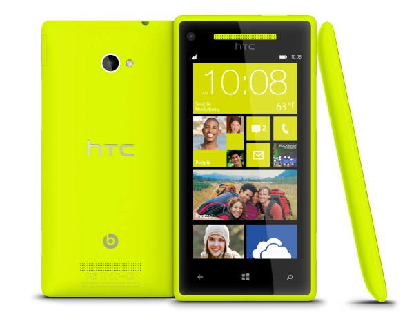 HTC 8X (limelight yellow)